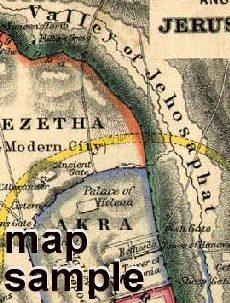 Map of Ancient Jerusalem No.3