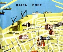 Pictorial map of modern Haifa No.1