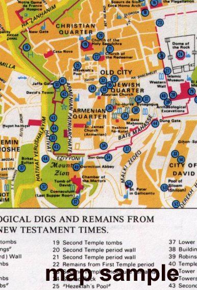 Map of Modern Jerusalem 7 (includes City Center and the Old City) - Modern Jerusalem Map 7