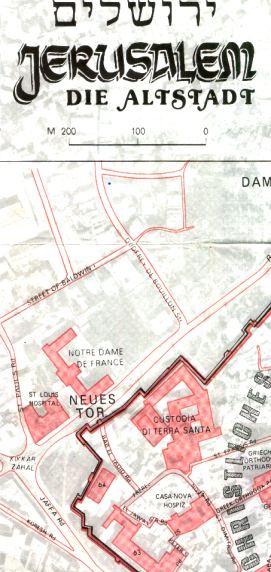 Jerusalem die altstadt - Jerusalem map 1964 German Edition