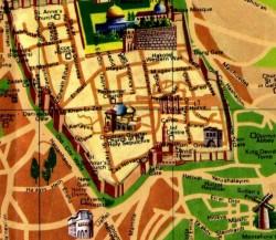 Pictorial map of Modern Jerusalem and the Old City - Modern Jerusalem Map 3
