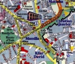 Map of Modern Jerusalem and the Old City - Modern Jerusalem Map 4