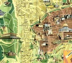 Map of Modern Jerusalem and the Old City #6 - Modern Jerusalem Map 6
