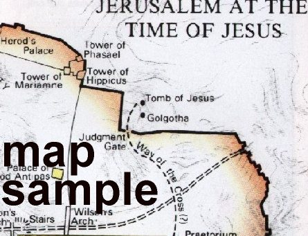 map of jerusalem at the time of jesus