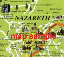 Map of modern Nazareth - Nazareth map 3