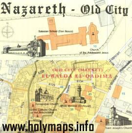 Old city Nazareth - Nazareth Old City Map No.2
