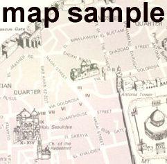 Old City of Modern Jerusalem #8, another pictorial map - Modern Jerusalem Map 8