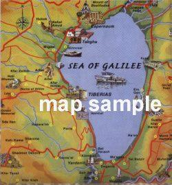 Sea of Galilee (Lake Kinneret) map
