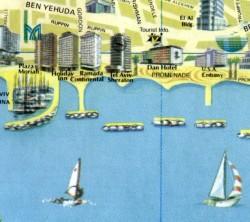 Pictorial Map of modern Tel Aviv No.1